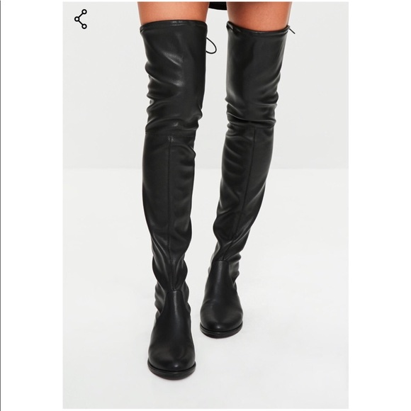 c05353737ea Misguided OTK faux leather boots